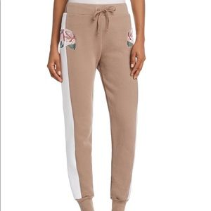 WILDFOX Tea Roses Embroidered Jogger Pants-S